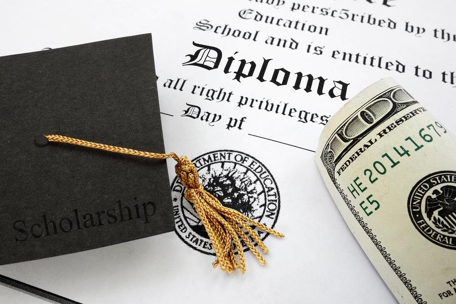 bigstock-Diploma-And-Cash-86883131